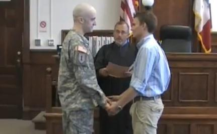The Marriage of a Soldier and His Boyfriend (VIDEO)