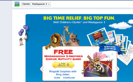 "Merck Uses ""Madagascar 3″ Characters to Market Children's Claritin"
