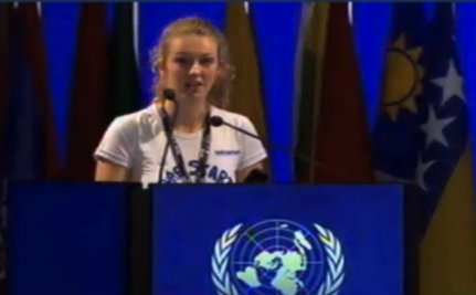17-Year-Old Addresses World Leaders at the UN Earth Summit