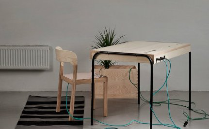 Desk Turns Human Laziness Into Clean Energy