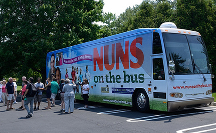 """Nuns on the Bus"" Tour America for Social Justice"