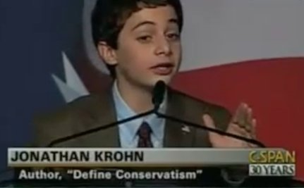 Famed Child Conservative Jonathan Krohn Becomes a Liberal Teenager