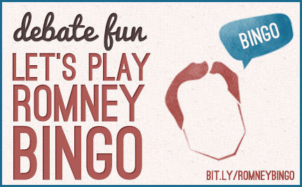 For Your Debate-Watching Pleasure: Romney Bingo