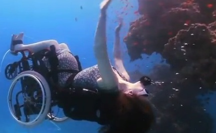 Under Ocean Wheelchair Stirs Impossible Dreams