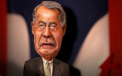 Boehner Stuck Between a Rock and a Hard Place