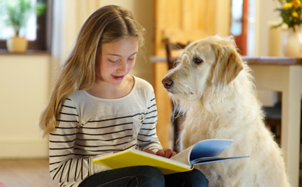 Listening Dogs Help Kids Learn to Read