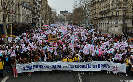 Where's the Love? 300,000 French Protest Gay Marriage and Adoption