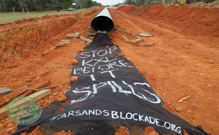 Activists Find Gaping Holes in Keystone XL Pipeline, Literally