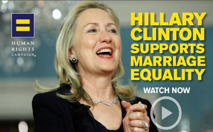 Watch Hillary's Presidential Evolution On Gay Marriage