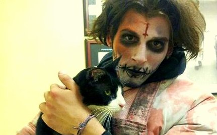 Zombie Saves Terrified Times Square Cat