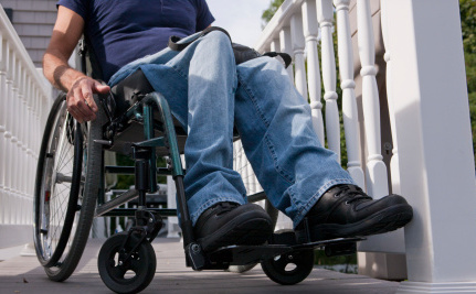 Paraplegic Man Builds Wheelchair Ramp Himself to Get Into Health Department