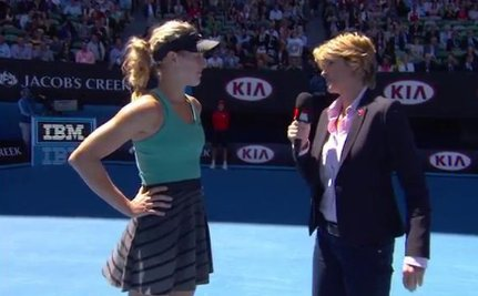 Here's What Not to Ask a Female Tennis Player Who Just Made it to the Australian Open Semis