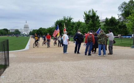 Tens of People Descend Upon the Capitol to Drive the Obama Administration Out of Office