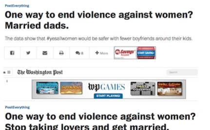 "Washington Post Thinks Marriage Would ""End Violence Against Women"""