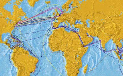 This Map of the World's Underwater Broadband Cables Says a Lot About Who Matters
