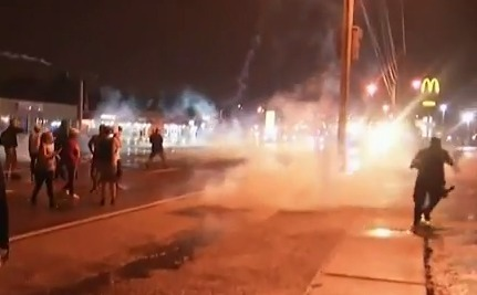 It's Tear Gas' 100th Birthday, and Police in Ferguson Are Blowing Out the Candles