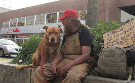 Homeless Man Walks 5 Miles Everyday to Visit Beloved Dog