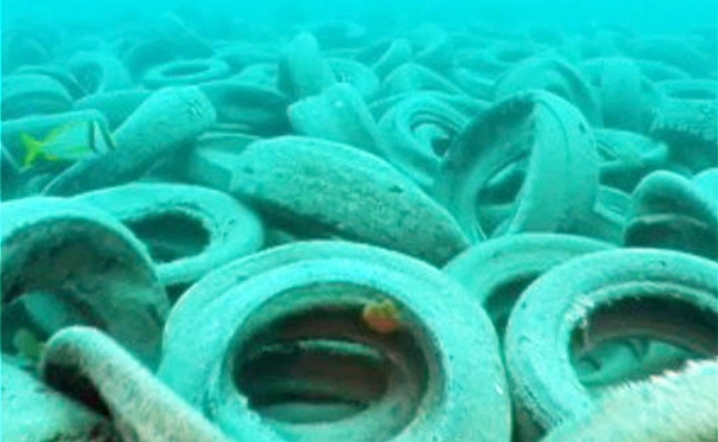 daaed299950 Using Tires To Create An Artificial Reef In Florida Was A Really Bad ...