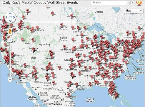 Occupy America Map