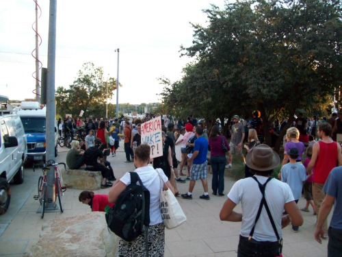 A view of the crowd - Occupy Austin