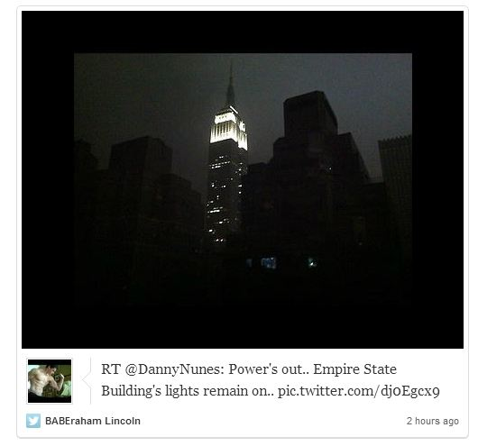 hurricane sandy empire state building