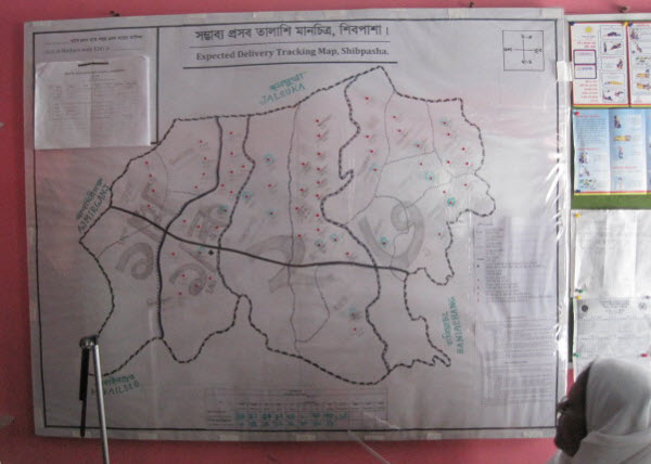 Map Tracking Pregnancies in Bangladesh