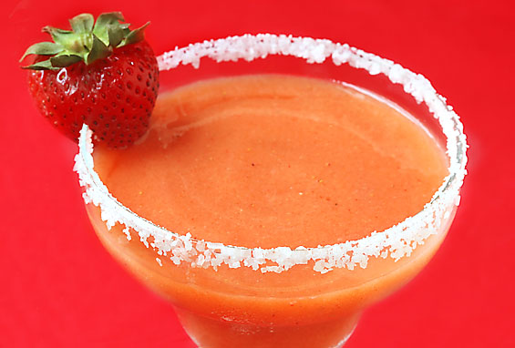 meatless cinco de mayo strawberry-mango-margaritas