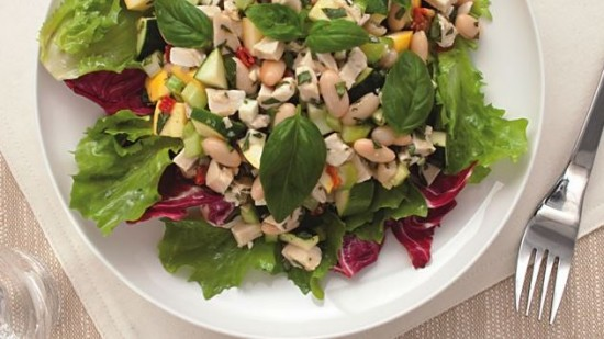 no cook chicken and bean salad