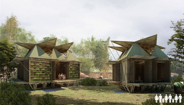 Floating Bamboo Houses H&P Architects