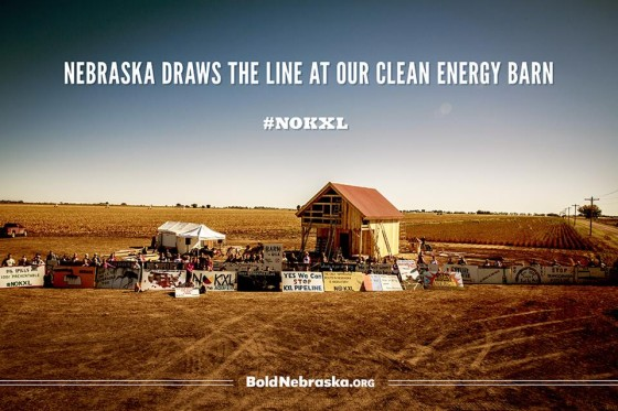 Nebraska solar-powered barn Keystone XL
