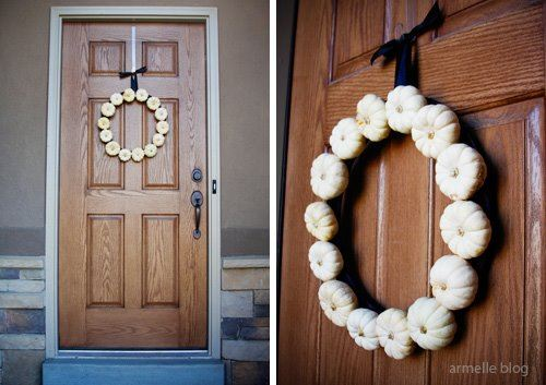 eco-friendly decorations mini pumpkin wreath