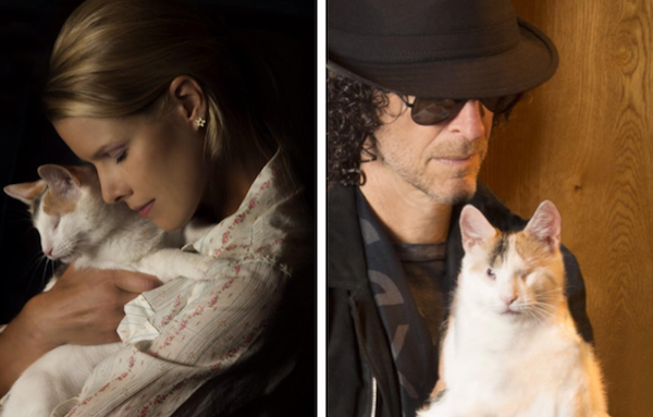 Howard and Beth with Bella, their blind cat