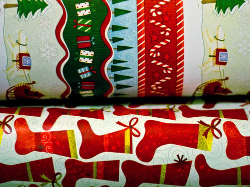 non-toxic holiday decorations wrapping paper