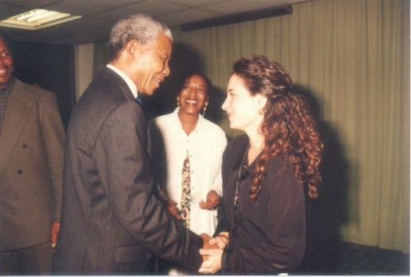 Nelson Mandela and Sharon Gelman