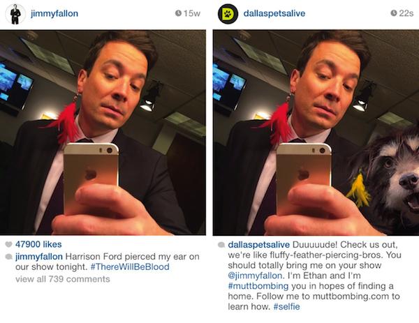 Jimmy Fallon selfie