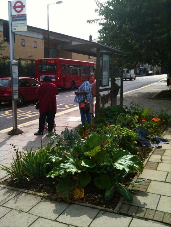 london edible bus stop