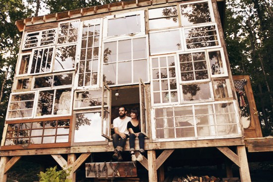 Lilah Horwitz Recycled Window Tiny House