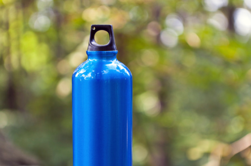 greener camping tips, water bottle