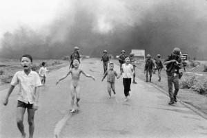 Children run from Napalm during Vietnam War