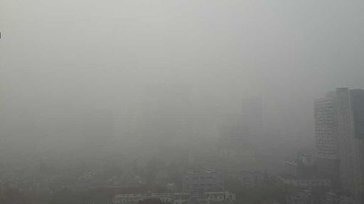 This photo, entitled Haze in Shanghai, captures the deadly levels of smog within China.