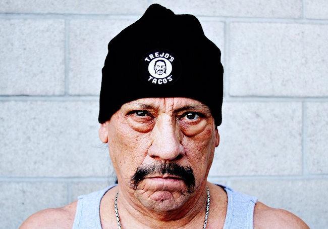 Danny Trejo's tough guy look.  Photo credit:  Trejo's Tacos Facebook page.