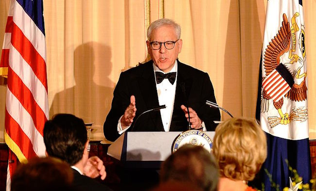 David Rubenstein speaking at the Kennedy Center in 2015.  Photo credit: U.S. Department of State
