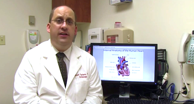 Dr J. Chad Teeters.  Photo credit: Screen grab from Highland Hospital You Tube video