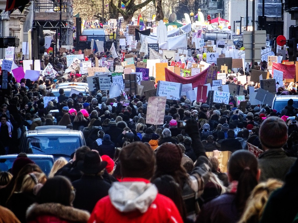Crowd at London Women's March |  Garry Knight via Flickr