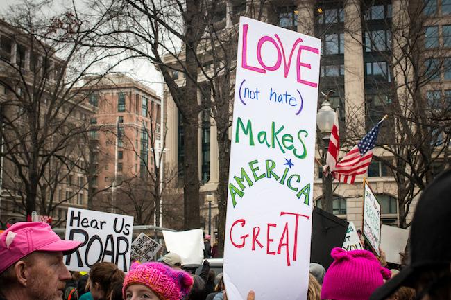 Kindness Makes America Great |  Washington D.C., Women's March Liz Lemon via Flickr