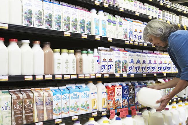 Consumers are choosing plant-based milks over animal milks. Photo credit: Thinkstock