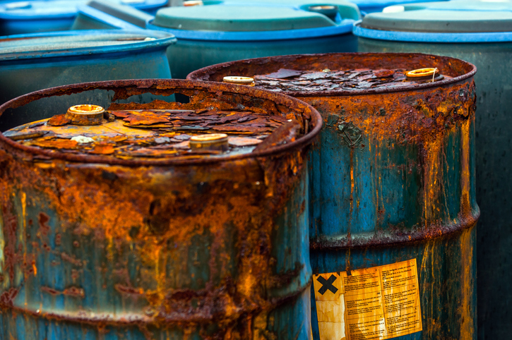 Industrial Barrels containing toxic waste