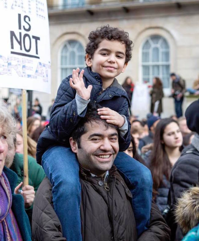 Dogus and son. Photo credit: Ibrahim Dogus Facebook page