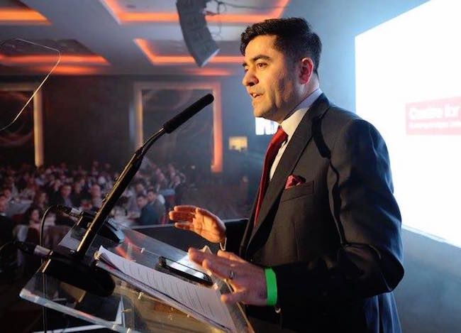 Dogus, a businessman and activist, has political aspirations.  Photo credit: Ibrahim Dogus Facebook page