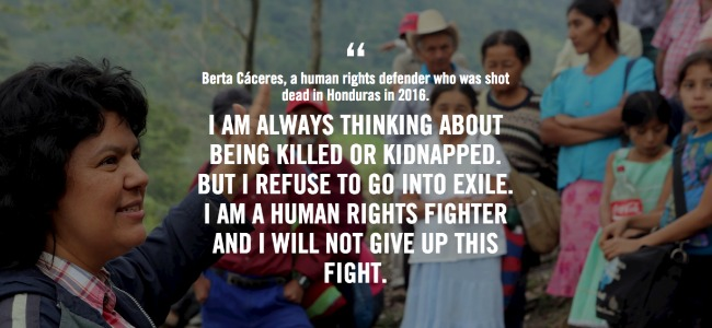 Berta Caceras with quote